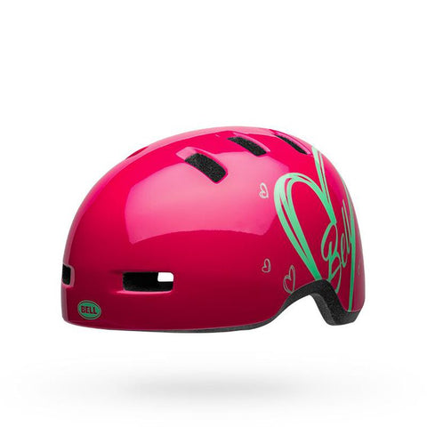 Bell Lil Ripper Adore Gloss Pink Youth Bike Helmet