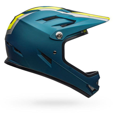 Bell Sanction Presence Matte Blue Hi-Viz Full-Face Bike Helmet