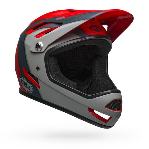 Bell Sanction Presence Matte Crimson Slate Gray Full-Face Bike Helmet