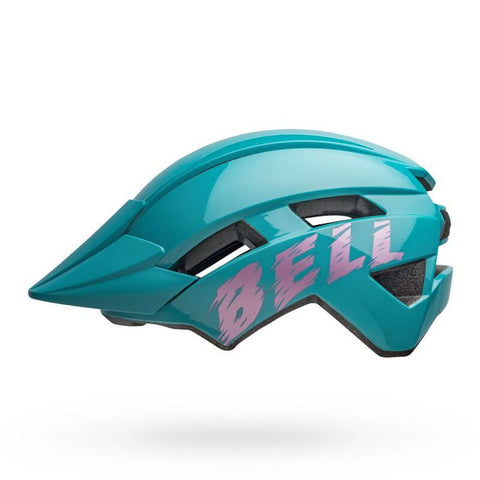 Bell Sidetrack II Light Blue and Pink Youth Bike Helmet