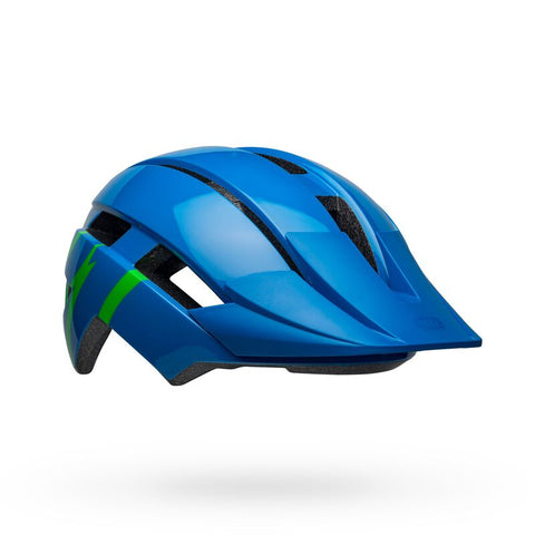 Bell Sidetrack II Strike Gloss Blue and Green Youth Bike Helmet