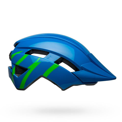 Bell Sidetrack II MIPS Strike Gloss Blue and Green Youth Bike Helmet