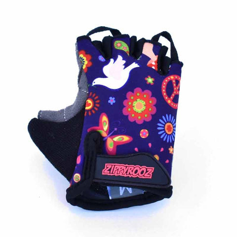 ZippyRooz Peace Kids Bike Gloves