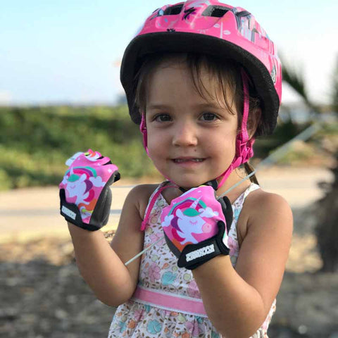 ZippyRooz Unicorn Kids Bike Gloves