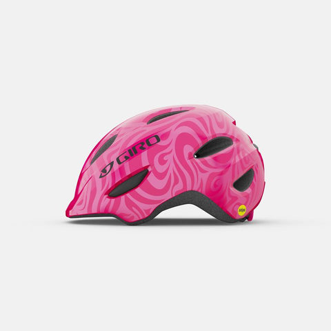 Giro Scamp MIPS Bright Pink and Pearl Youth Bike Helmet