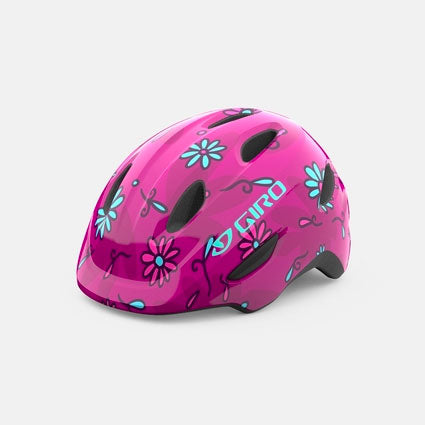 Giro Scamp Pink Daisies Youth Bike Helmet