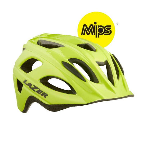Lazer Nut'z MIPS Flash Yellow Bike Helmet with InsectNet