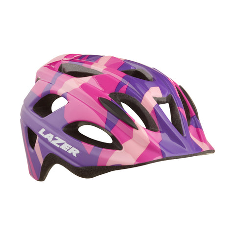 Lazer Nut'z Pink Camo Bike Helmet with InsectNet