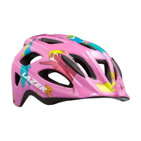 Lazer P'Nut Pink Super Girl Bike Helmet with InsectNet