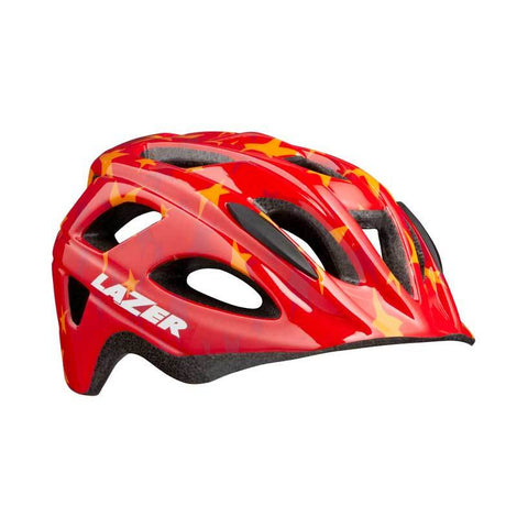 Lazer P'Nut Red Stars Bike Helmet with InsectNet