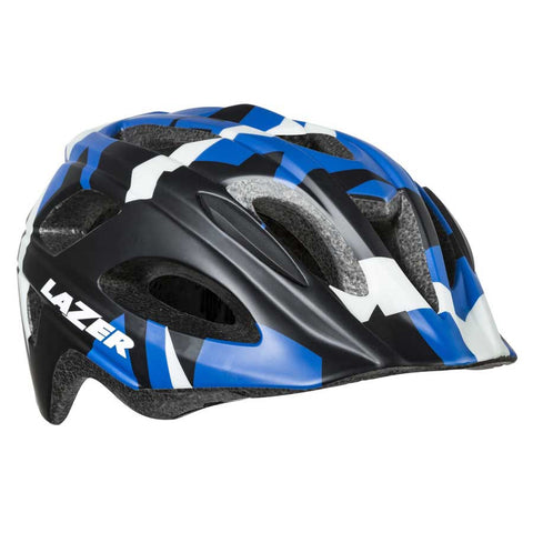 Lazer Nut'z Blue Camo Bike Helmet with InsectNet