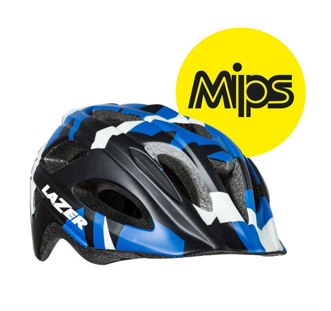 Lazer Nut'z MIPS Blue Camo Bike Helmet with InsectNet