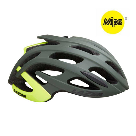 Lazer Blade+ MIPS Dark Green Yellow Bike Helmet