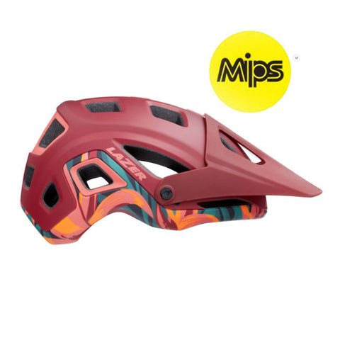 Lazer Impala MIPS Matte Red Rainforest MTB Helmet