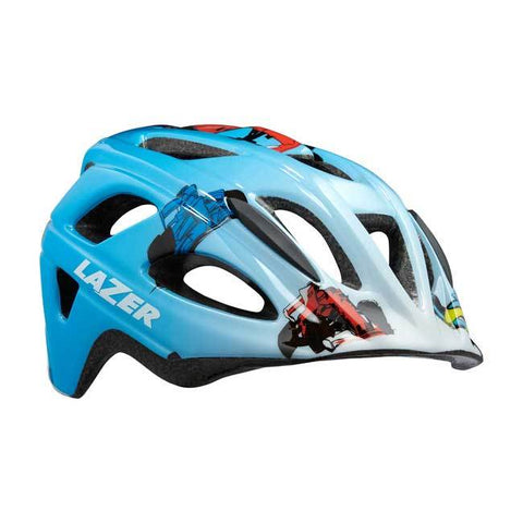 Lazer P'Nut Blue Racer Boy Bike Helmet with InsectNet