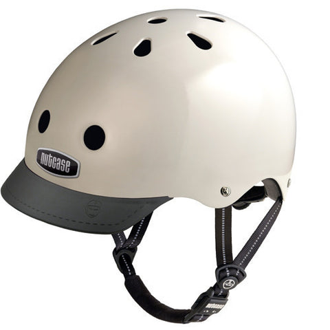 Nutcase Cream Bike Helmet
