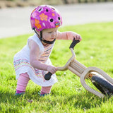 Baby Nutty Petal Power Helmet on a child