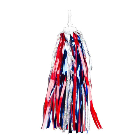 Red, Silver & Blue Laser Bike Streamers