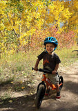 Strider 12 Sport Balance Bike on the trail