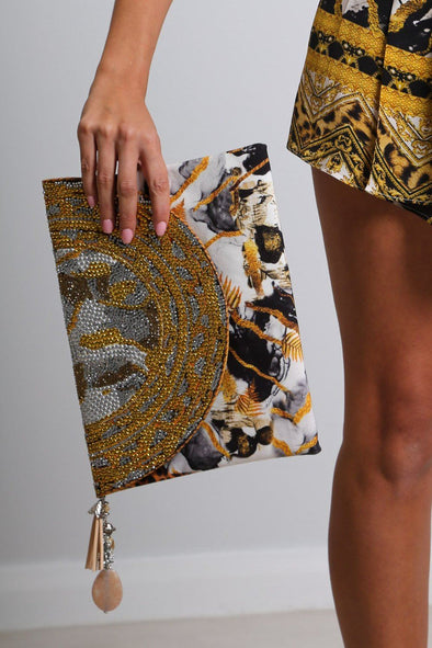 HANDBAGS - CAIRO CLUTCH WITH CRYSTALS