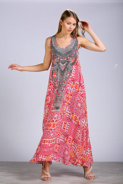 SHIRAZ - SLEEVELESS MAXI DRESS