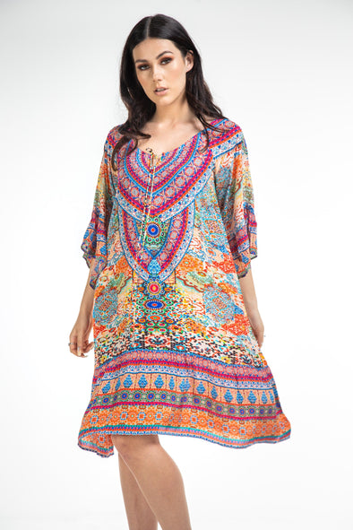 SUMMER TANGERINE - GYPSY DRESS