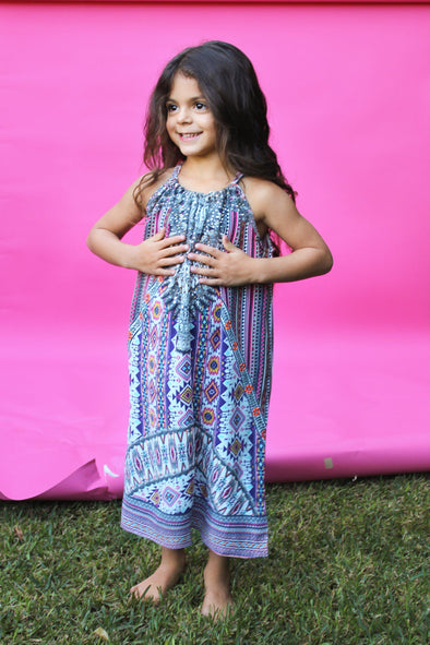 PERUVIAN COLLECTION  - LITTLE GIRLS' MAXI DRESS