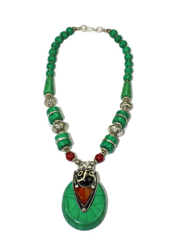 JEWELLERY - GREEN SERPENT NECKLACE