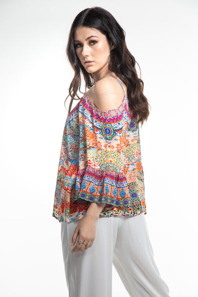 SUMMER TANGERINE - GYPSY TOP