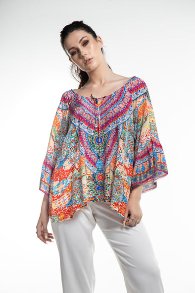 SUMMER TANGERINE - GYPSY TUNIC