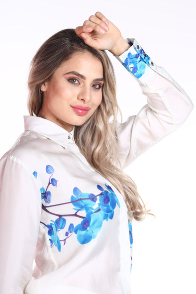 BLUE ORCHID - SHIRT WITH COLLAR (White)