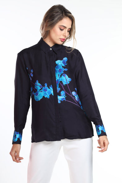 BLUE ORCHID - SHIRT WITH COLLAR (Navy)