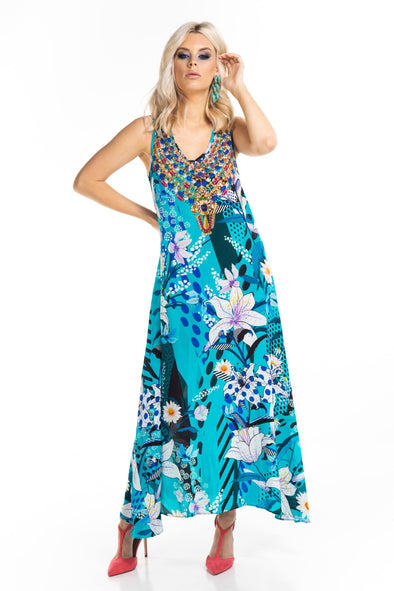 AQUA LUNA - SLEEVELESS MAXI DRESS
