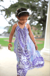CHYNA BLUE - LITTLE GIRLS MAXI DRESS