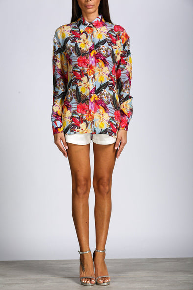 OAHU FLORAL - SHIRT WITH COLLAR