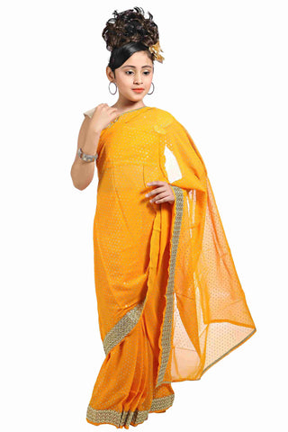 Bhartiya Paridhan Girls Ready To Wear Stitched Traditional Saree