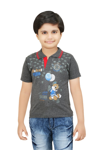 Bluntly Colour Kids Boys Printed T-Shirts