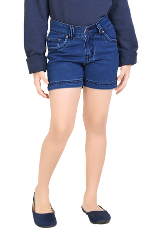 Clench Girls Denim Blue Short