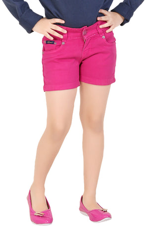 Clench Girls Denim Pink Short