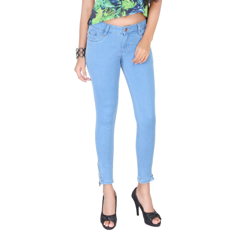 Clench Ladies Semi Ankle Jeans