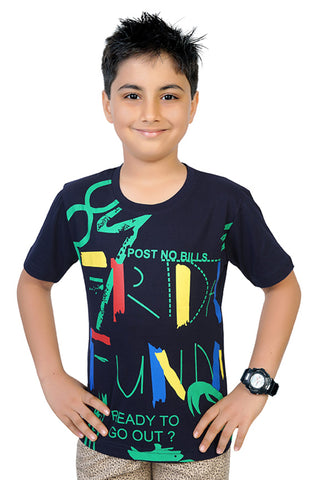 Boy's Trendy T-Shirt By Just4You