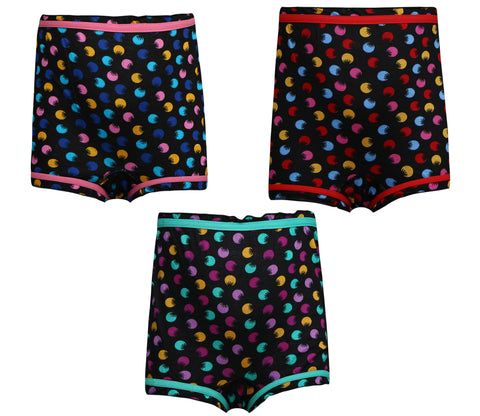 Red Rose Girls Cotton Ineers- Pack of 3 Bloomers
