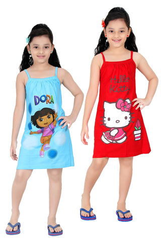 Girls Cotton Slip By Red Rose - Pack of 2