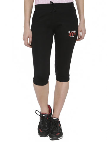 Red Ring Women's Cotton Capri