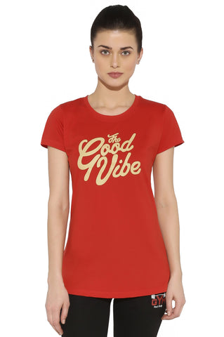 Red Ring Women's Sporty T-Shirt