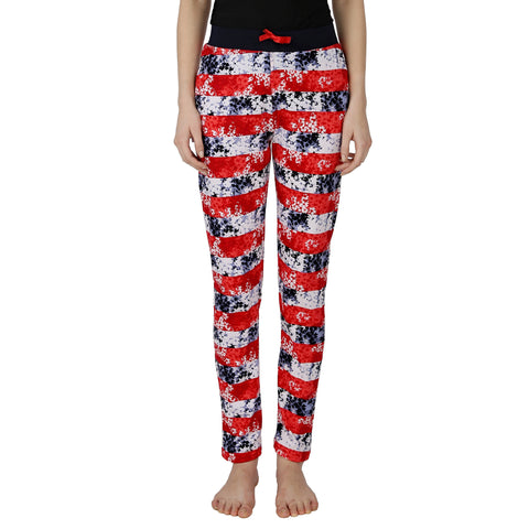 Red Ring  Women's Cotton Track Pant