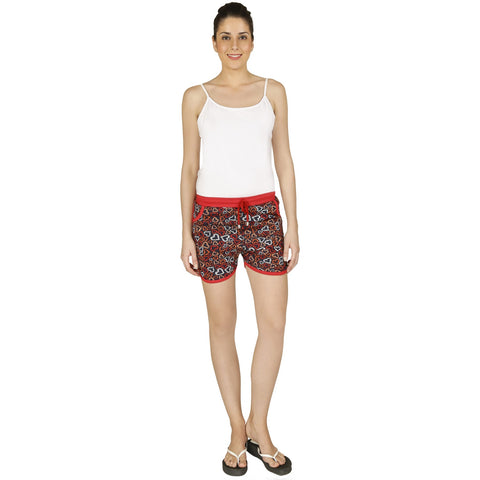 Red Ring Cotton Women's Short
