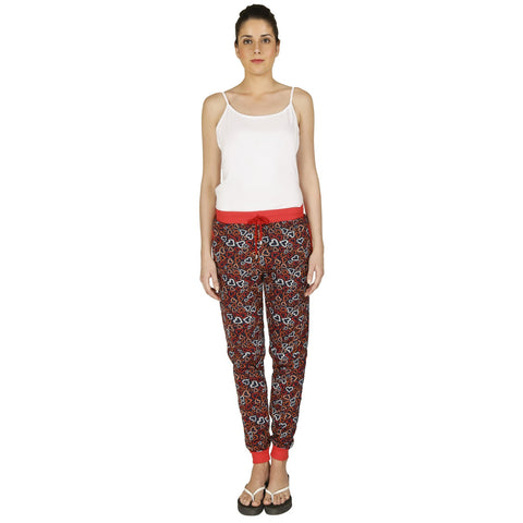 Red Ring Cotton Women's Track Pant