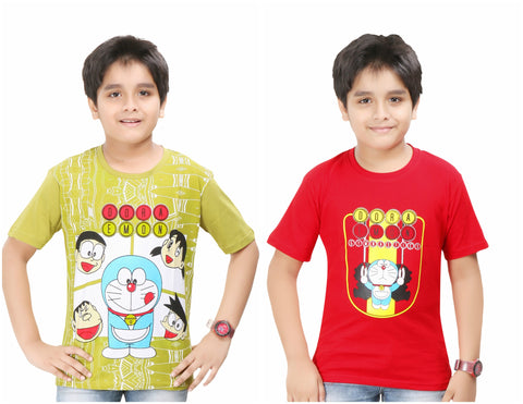 Boy's Printed T-Shirt By Red Ring- Pack Of 2