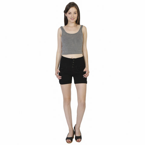 Studio 18 Women's Black Solid Shorts